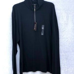 Michael Kors Black quarter zip pullover XL